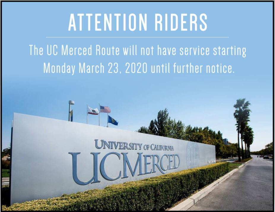 UC Merced - No service March 23